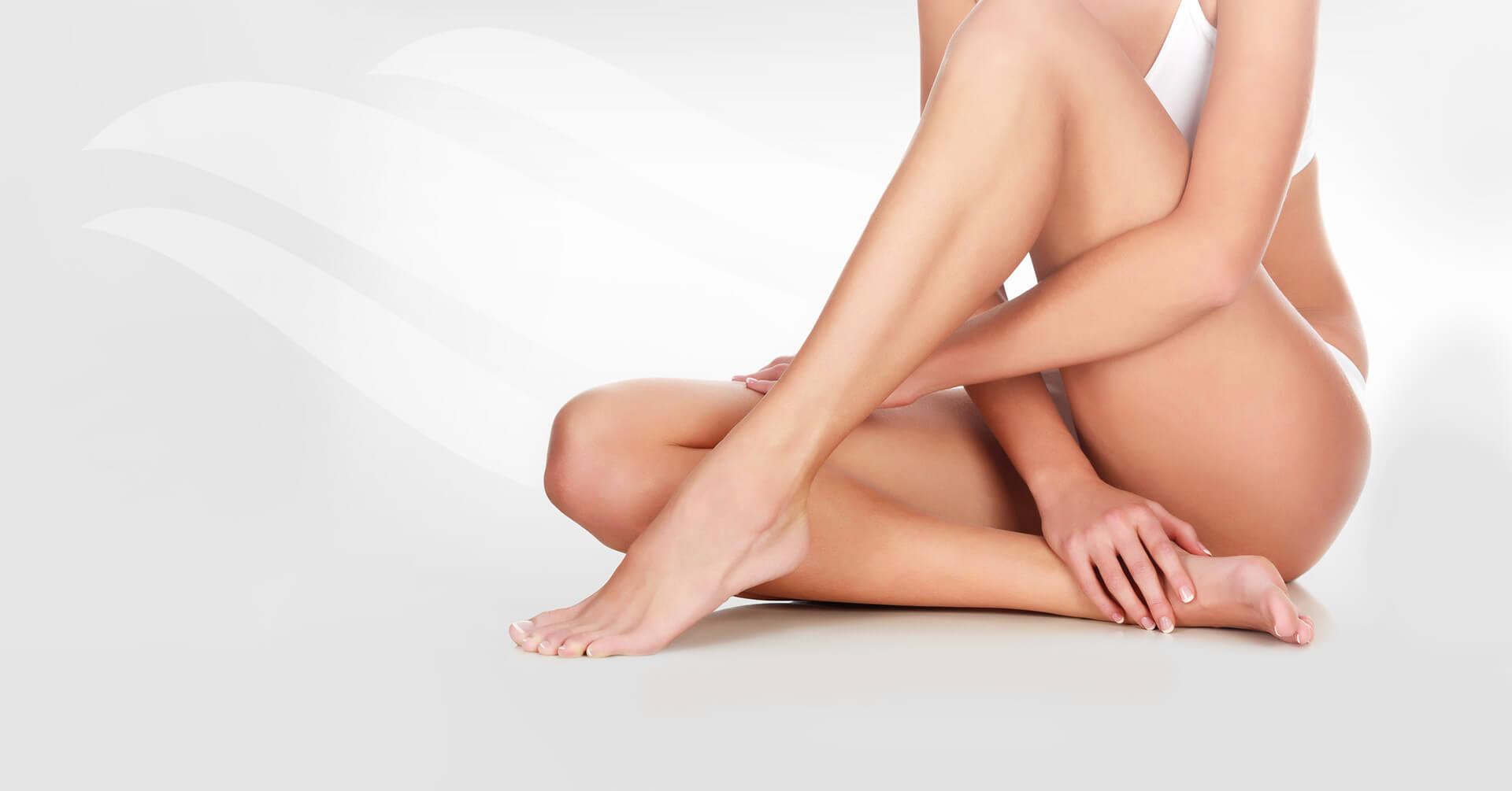 gładka skóra po depilacji laserowej