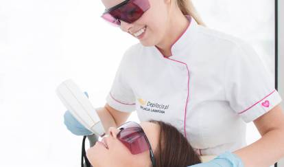 depilacja laserowa wąsika