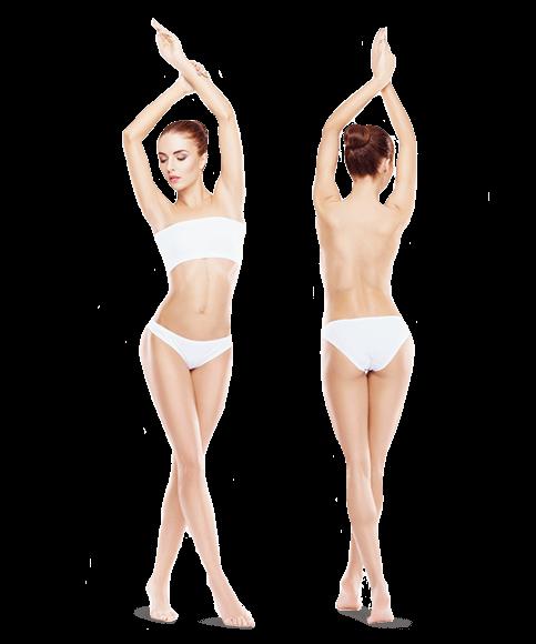 zdjęcie kobiety z przodu i z tyłu całe ciało