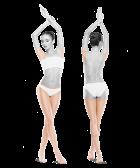 zdjęcie kobiety zprzodu iztyłu nogi bikini pachy jeden zabieg