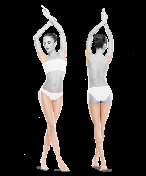 zdjęcie kobiety z przodu i z tyłu nogi bikini pachy jeden zabieg