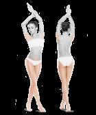zdjęcie kobiety zprzodu iztyłu pachy bikini nogi do skutku