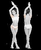 zdjęcie kobiety zprzodu iztyłu bikini pachy jeden zabieg
