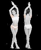 zdjęcie kobiety zprzodu iztyłu bikini pachy do skutku