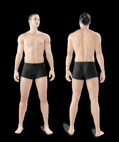 zdjęcie mężczyzny z przodu i z tyłu całe ciało jeden zabieg
