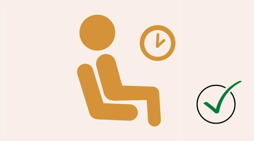 ikona odpoczywającego człowieka