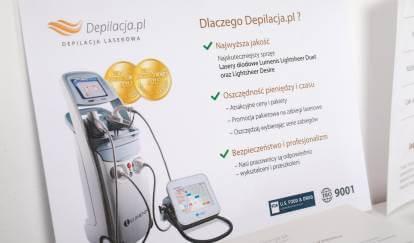 ulotka reklamowa depilacji laserowej